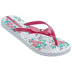 Ipanema - White spotty bow flip flops
