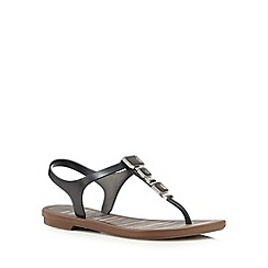 Grendha - Black jewel strap sandals