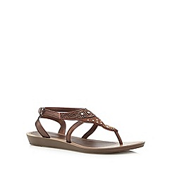 Grendha - Bronze embellished sandals