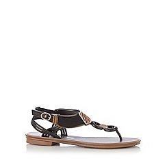 Grendha - Black link toe post sandals