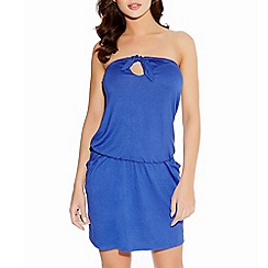 Freya - Blue Poppy jersey bandeau dress