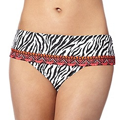 Beach Collection - Zebra print fold bikini bottom