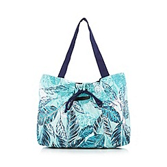 Beach Collection - Turquoise sequin leaf shoulder bag