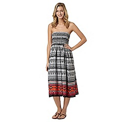 Beach Collection - Black tribal border dress