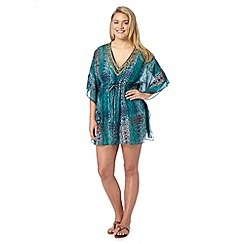 Beach Collection - Blue snake embellished kaftan