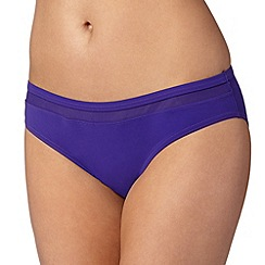 J by Jasper Conran - Designer purple mesh bikini bottoms