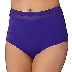 J by Jasper Conran - Designer purple mesh high waisted bikini bottoms