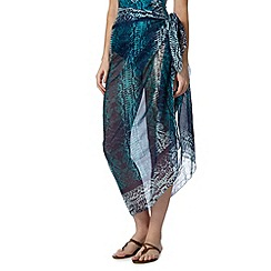 Beach Collection - Blue snakeskin sarong
