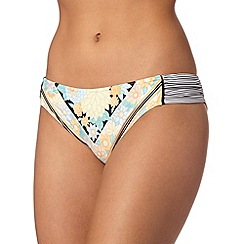 Red Herring - Black floral striped bikini bottoms