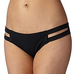 Red Herring - Black cutout bikini bottoms