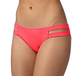 Red Herring - Bright pink double side strap bikini bottoms