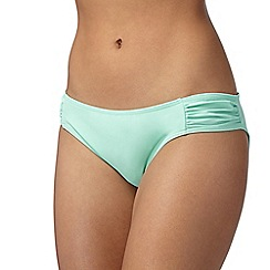 Red Herring - Turquoise ruched bikini bottoms