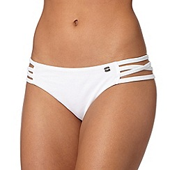 Lipsy - White string sides bikini bottoms