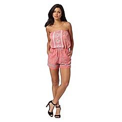 Lipsy - Michelle Keegan loves Lipsy pink leopard print playsuit