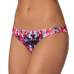 Lipsy - Pink blurred floral bikini bottoms