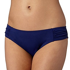 Beach Collection - Navy ruched bikini mix and match bottoms