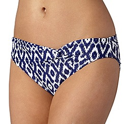 Beach Collection - Navy ikat mix and match twist bikini bottoms