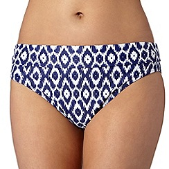 Beach Collection - Navy ikat mix and match fold bikini bottoms