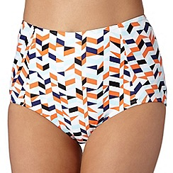 Beach Collection - Orange geometric mix and match bikini bottoms