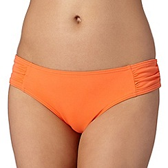 Beach Collection - Orange ruched mix and match bikini bottoms