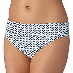 Beach Collection - Blue chevron mix and match fold bikini bottoms