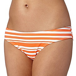 Beach Collection - Orange striped mix and match bikini bottoms