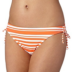 Beach Collection - Orange striped mix and match tie side bikini bottoms