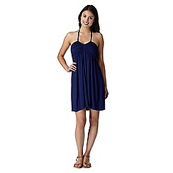 Beach Collection - Navy bandeau mix and match jersey dress