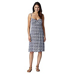 Beach Collection - Navy ikat mix and match jersey dress