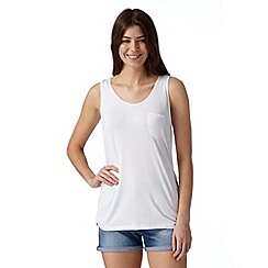 Beach Collection - White plain mix and match jersey vest