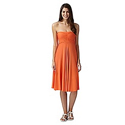 Beach Collection - Orange multiway mix and match bandeau skirt dress