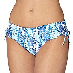 Gorgeous DD+ - Blue animal print folded bikini bottoms