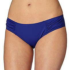 Gorgeous DD+ - Dark blue ruched side bikini bottoms