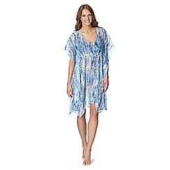 Beach Collection - Blue animal print kaftan