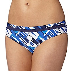 Principles by Ben de Lisi - Designer blue abstract print bikini bottoms