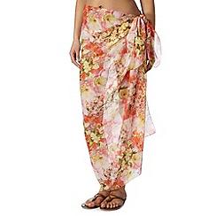 Reger by Janet Reger - Designer coral garden print sarong