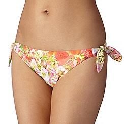 Reger by Janet Reger - Designer coral garden bunny tie side bikini pants