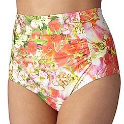 Reger by Janet Reger - Designer coral garden high waisted bikini pants