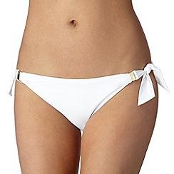 Reger by Janet Reger - Designer white bunny tie bikini bottoms