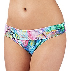 Butterfly by Matthew Williamson - Designer navy aztec fold bikini bottoms