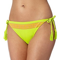 Butterfly by Matthew Williamson - Designer lime spotted bikini bottoms