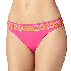 Butterfly by Matthew Williamson - Designer bright pink spotted bikini bottoms