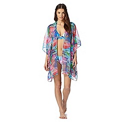Butterfly by Matthew Williamson - Designer pink feather aztec kimono
