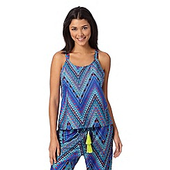 Butterfly by Matthew Williamson - Designer blue aztec chevron vest