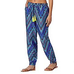 Butterfly by Matthew Williamson - Designer blue aztec chevron trousers