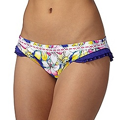 Floozie by Frost French - Blue orchid frill leg bikini bottoms