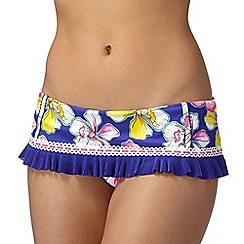 Floozie by Frost French - Blue orchid skirt bikini bottoms