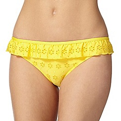 Floozie by Frost French - Yellow layered frill bikini bottoms