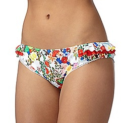 Floozie by Frost French - White ditsy floral bikini bottoms
