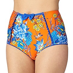 Floozie by Frost French - Orange floral bow bikini bottoms